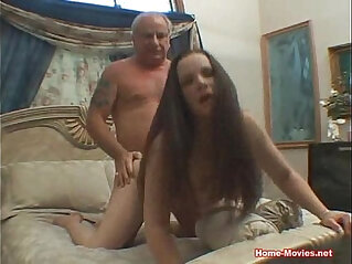 Brunette Hard By Old Cock