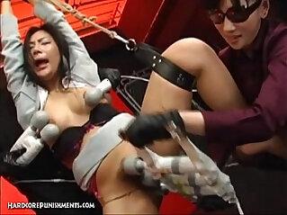 Wild Japanese Device Suspension Bondage Sex