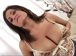 Huge tits mom waiting for son watch