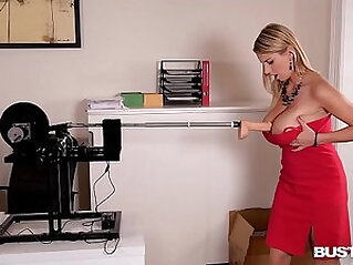 Busty Seduction Katerina Hartlova Orgasms During Hot Fucking Machine Ride