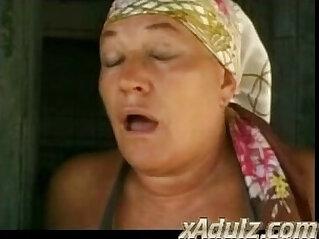 Fat Italian Granny Fucks Farm Hand In the Countryside