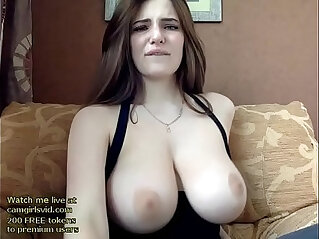 Russian beauty with her huge natural boobs