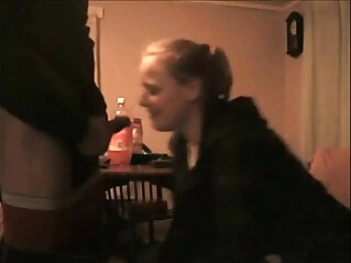 sister blowing brother when wife
