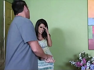 Cheating brunette MILF from has a visitor