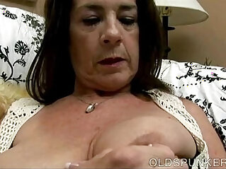 Naughty old spunker with nice big knockers loves fuck her juicy pussy