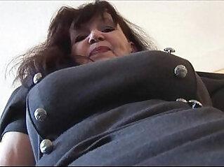 Busty curvy babe in short tight dress