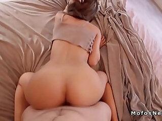 Latina gf bangs doggy in bedroom