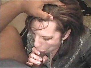 bored housewife sucking black cock