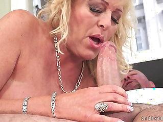 Lusty Grandma Magdi amazing cock riding