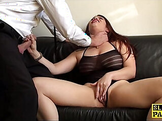 Redhead slut masturbating until orgasm