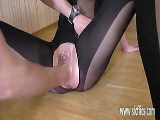 Fisting pussy till she squirts hard in orgasm
