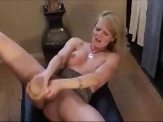 Horny amateur Milf With Huge anal Dildo