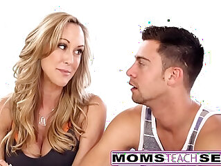 MomsTeachSex Hot Yoga Mom Fucks Son And Teen GF