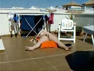 My gorgeous mom sunbathing and masturbating. Hidden cam