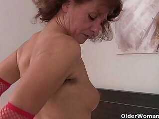 Grannies with full bushed and natural hairy pussies