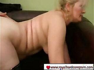 Son Fucking her blonde mom