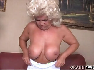 Granny Screames In Pain While She Fucks Young Cock