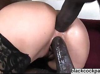 Black hard cock interracial dp with cheap blonde slut at interracial niche